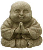 happy buddha GOLD small