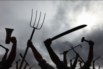 PITCH-FORKS-AT-READY